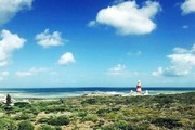 seven seas view of agulhas lighthouse