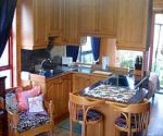 struisbaai accommodation agape stone cottage kitchen area
